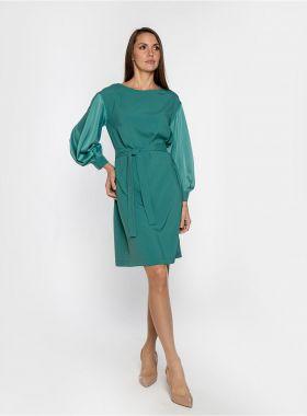 Платье с широкими манжетами